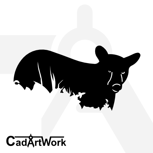 bear-2 dxf artwork- cadartwork
