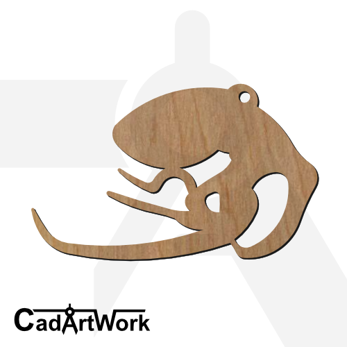 octopus 1 dxf artwork - cadartwork