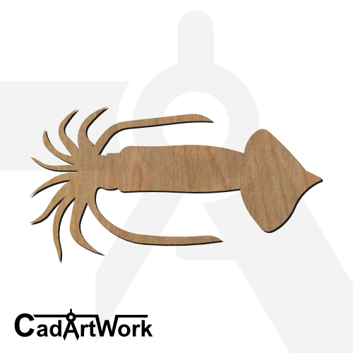 squid dxf artwork - cadartwork
