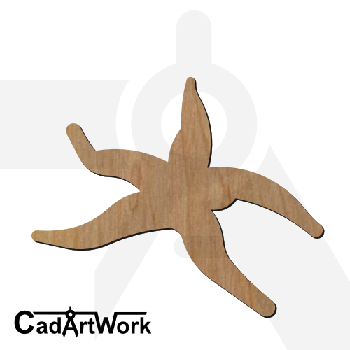 starfish dxf artwork - cadartwork