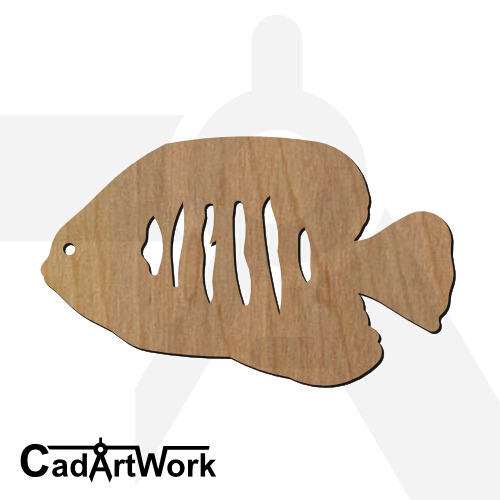 fish 05 dxf artwork - cadartwork.com