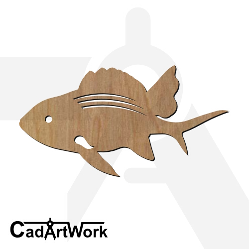 fish 07 dxf artwork - cadartwork.com