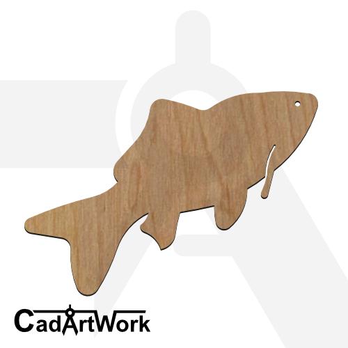 fish 09 dxf artwork - cadartwork.com