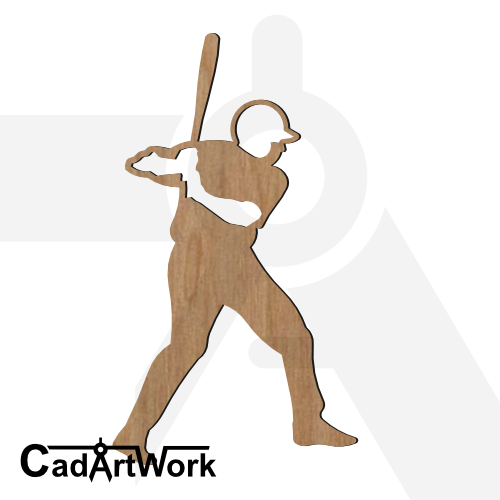 baseball 4 dxf artwork - cadartwork.com