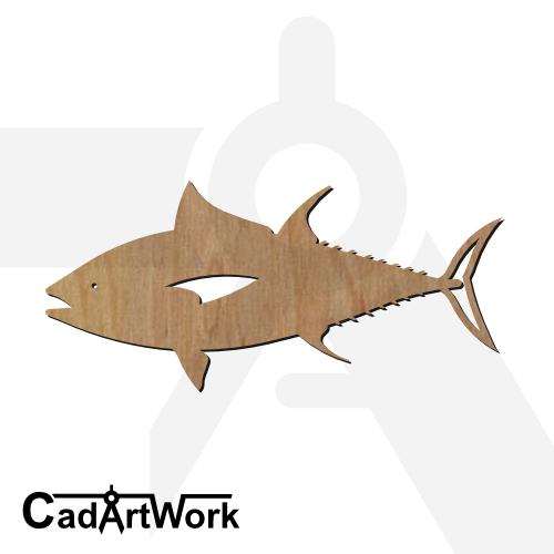 fish 10 dxf artwork - cadartwork.com