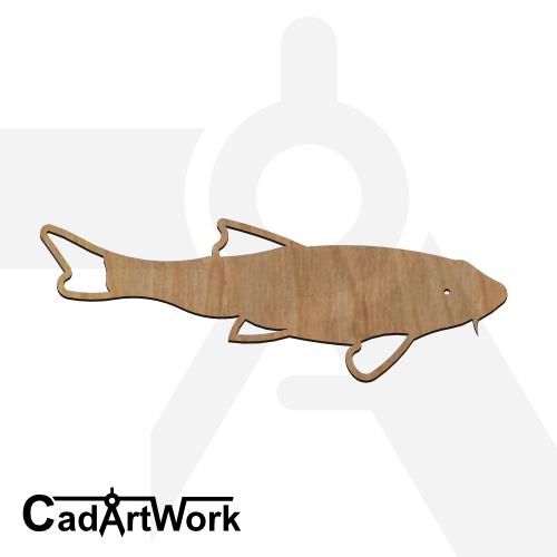 fish 11 dxf artwork - cadartwork.com