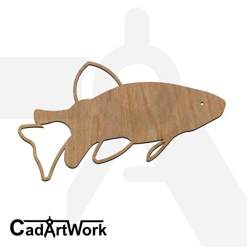 fish 12 dxf artwork - cadartwork.com