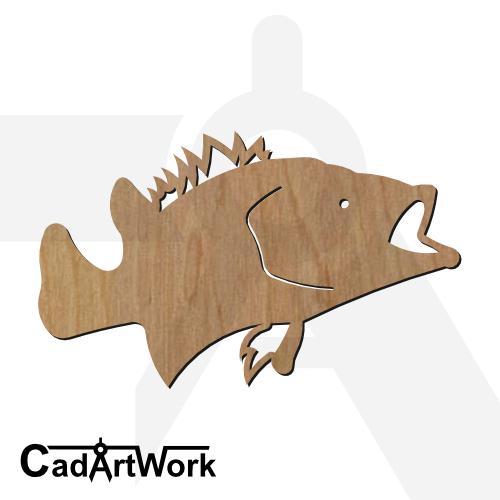 fish 13 dxf artwork - cadartwork.com