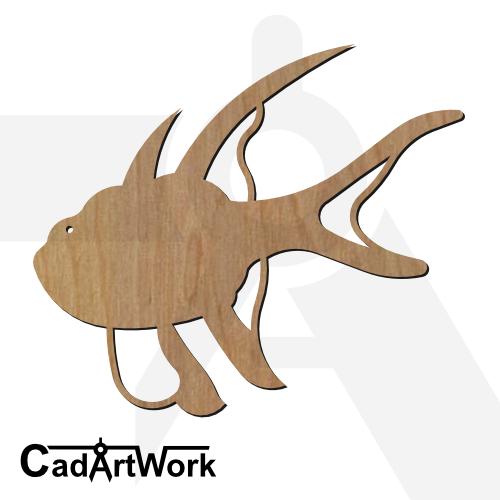 fish 14 dxf artwork - cadartwork.com