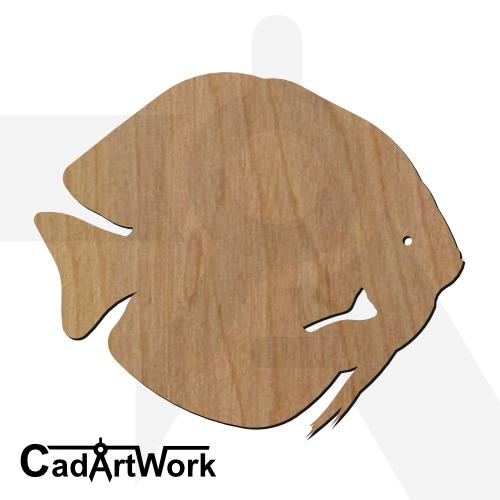 fish 17 dxf artwork - cadartwork.com