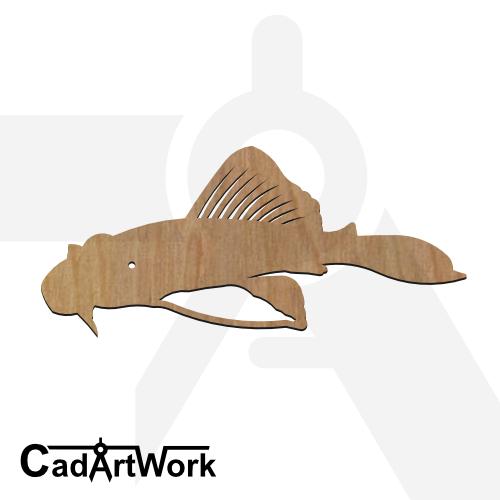 fish 19 dxf artwork - cadartwork.com