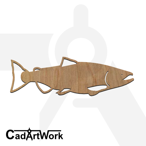 fish 22 laser cut file - cadartwork