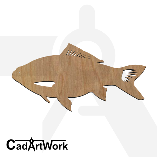 fish 26 dxf artwork - cadartwork