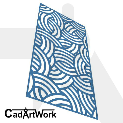 Plaits laser cut screen design - cadartwork