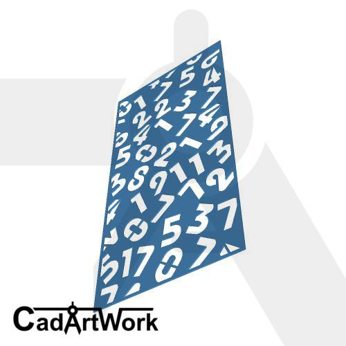 Spread number laser cut screen design - cadartwork