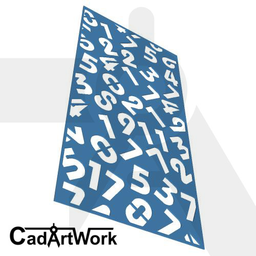 Spread number laser cut screen design - cadartwork
