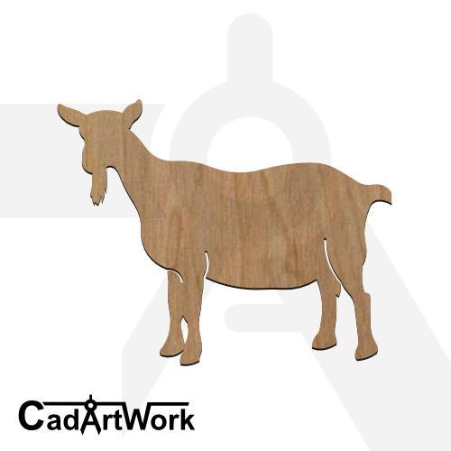 Goat dxf artwork - cadartwork