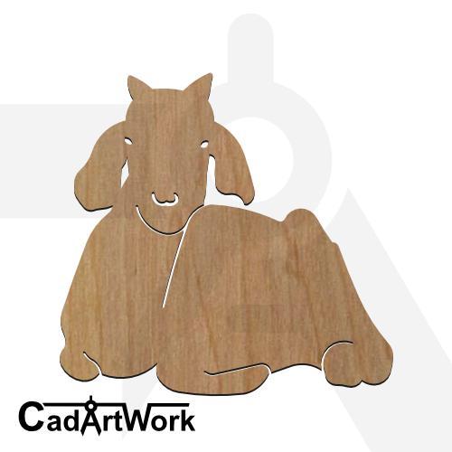 Goat 2 dxf artwork - cadartwork