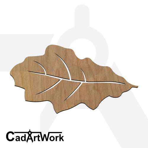 Oak leaf 2 dxf artwork - cadartwork