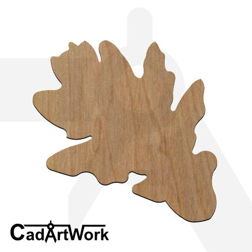 Oak leaf 3 dxf artwork - cadartwork
