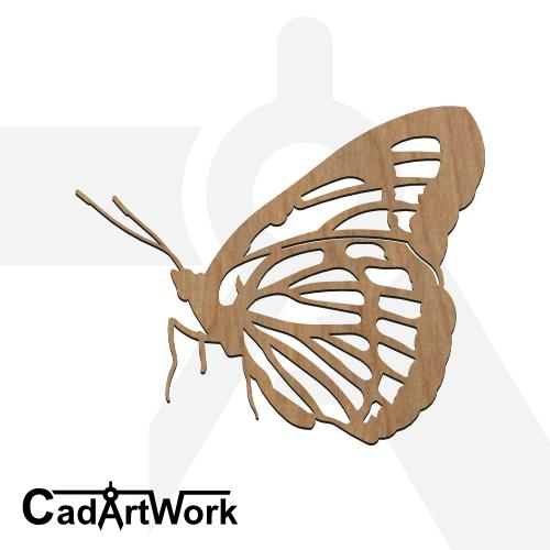 butterfly 2 dxf artwork - cadartwork