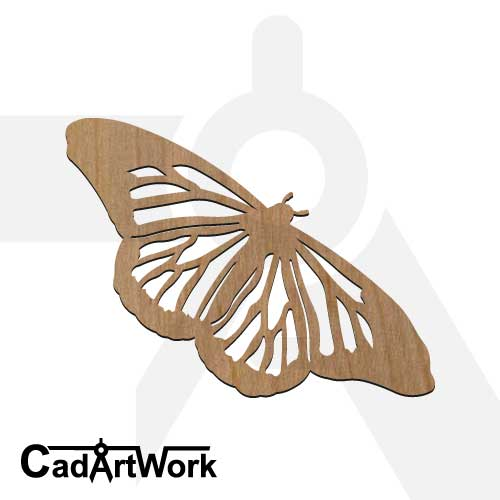 butterfly 3 dxf artwork- cadartwork