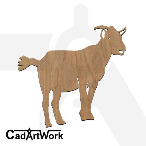 goat 4 dxf artwork - cadartwork