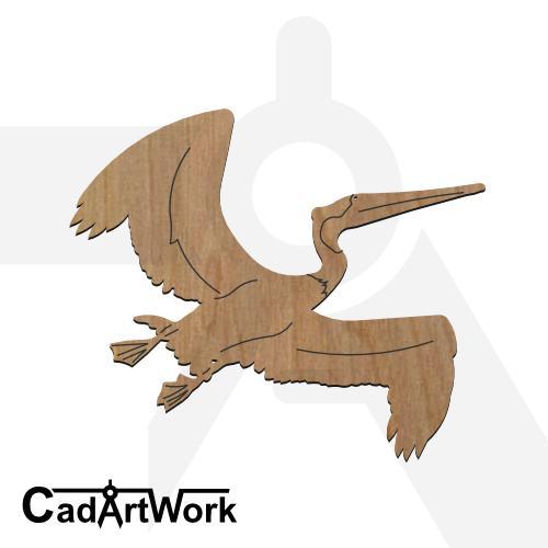 Pelican dxf artwork - cadartwork