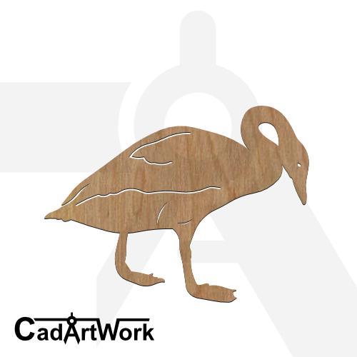 swan dxf artwork - cadartwork