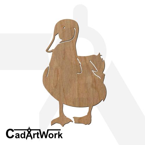 Duck 4 dxf artwork - cadartwork