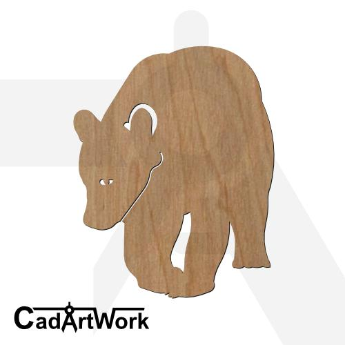 Bear dxf cad artwork - cadartwork.com