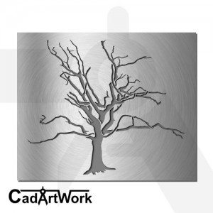 Dead tree wall art design - cadartwork.com