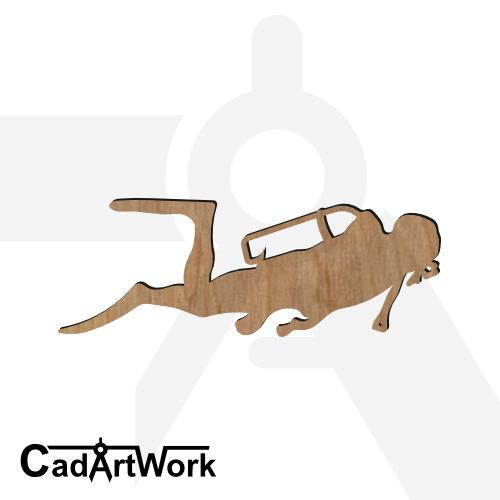Diving 3 dxf artwork - cadartwork.com