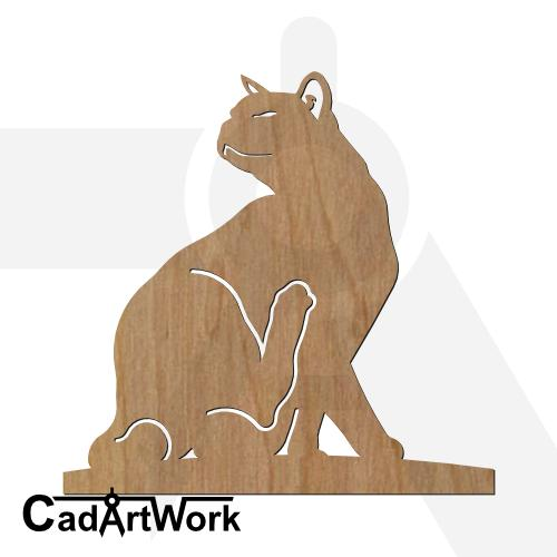 Cat dxf artwork - cadartwork.com