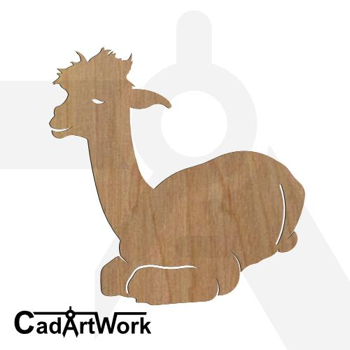 Alpaca 3 dxf artwork