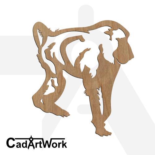 Baboon dxf clip art