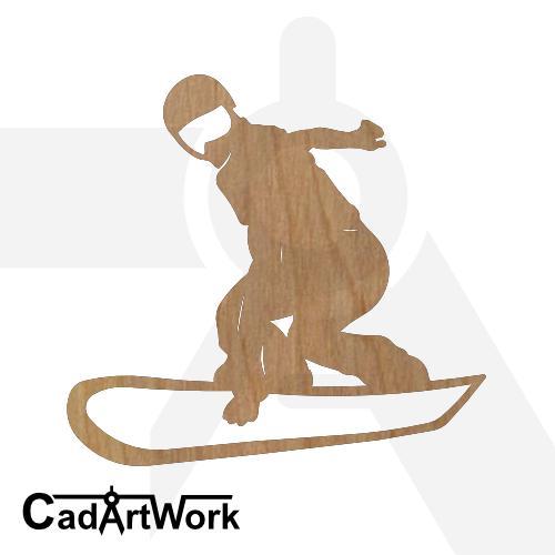 Snowboard dxf art