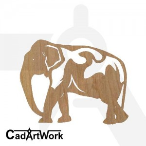 Elephant 4 dxf artwork