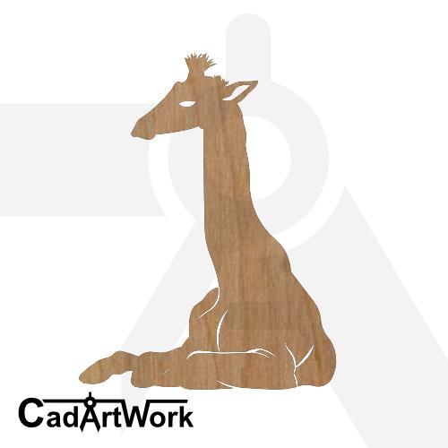 Giraffe sitting dxf artwork