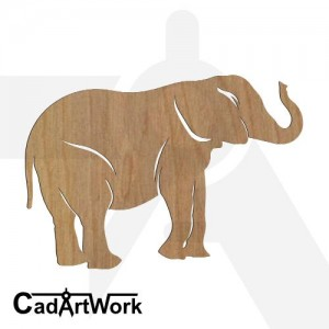 Elephant dxf art