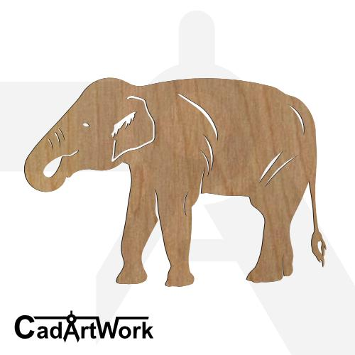 elephant 6 dxf art