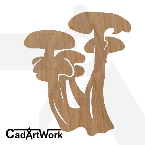 mushroom dxf art