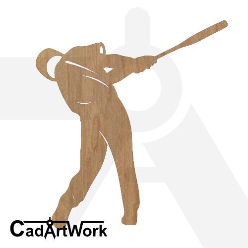 Baseball 5 dxf art