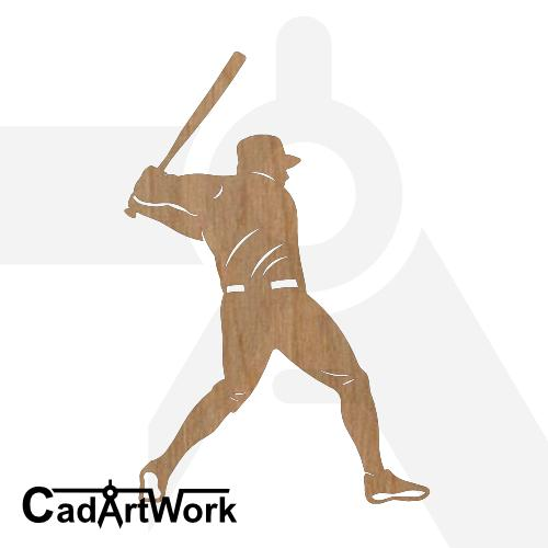 Baseball 6 dxf art