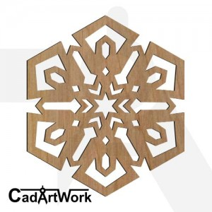 snow flake laser cut art