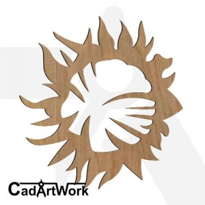 Sun flower dxf file
