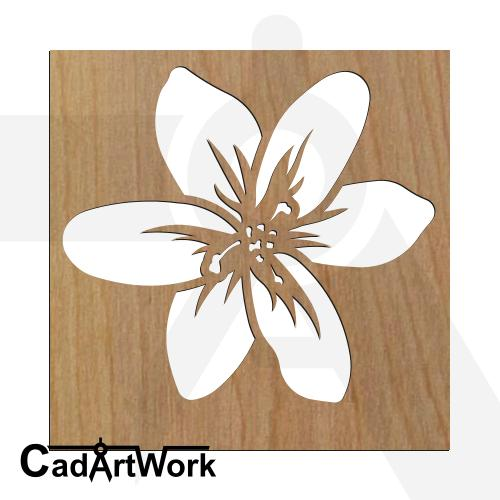 flower 6 laser cut design