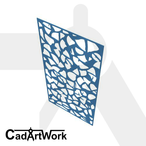 Log wood decorative screen pattern