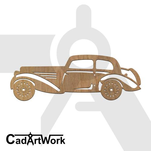 Classic car 2 dxf art
