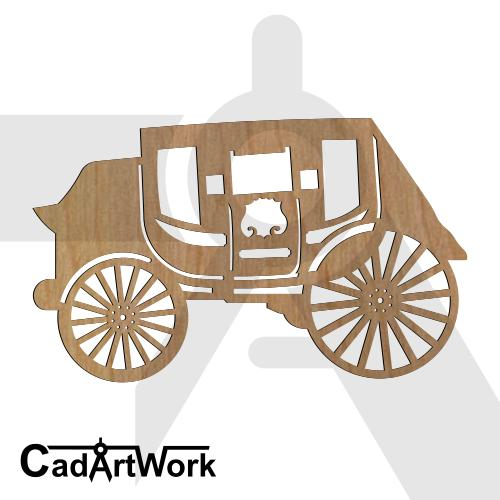 Stagecoach dxf art